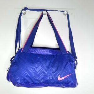 Nike Blue Multi Compartment Gym Travel Duffle Bag